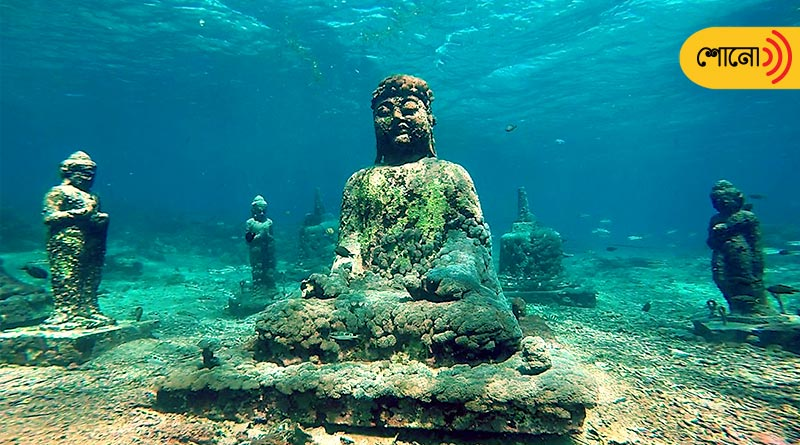 The truth behind the images of underwater temple garden in Bali