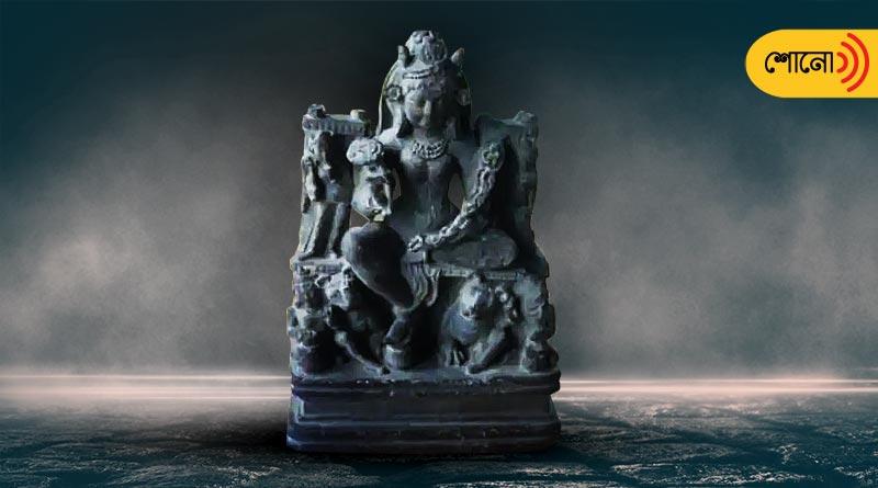 1200 year old sculpture of Goddess Durga discovered in Kashmir