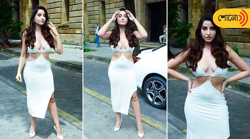 Nora Fatehi in a white body-hugging dress raises the hotness bar