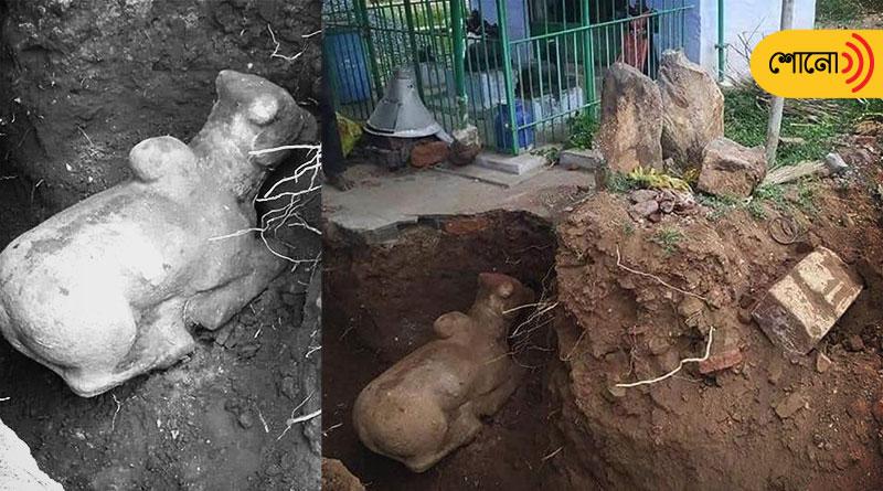 Hindu deity Nandi's idol found in a masque: fact of the news