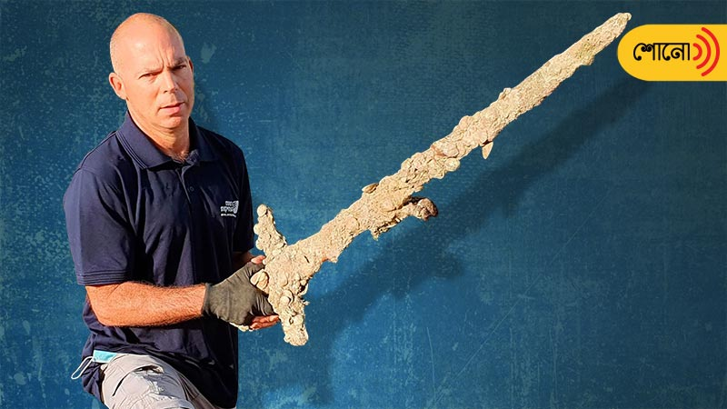 Ancient sword discovered by a scuba diver off the coast of Israel
