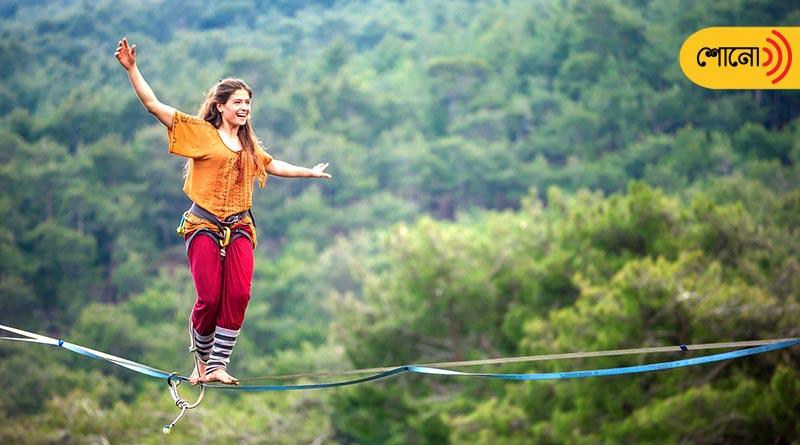 Russian village where everyone know tightrope walk