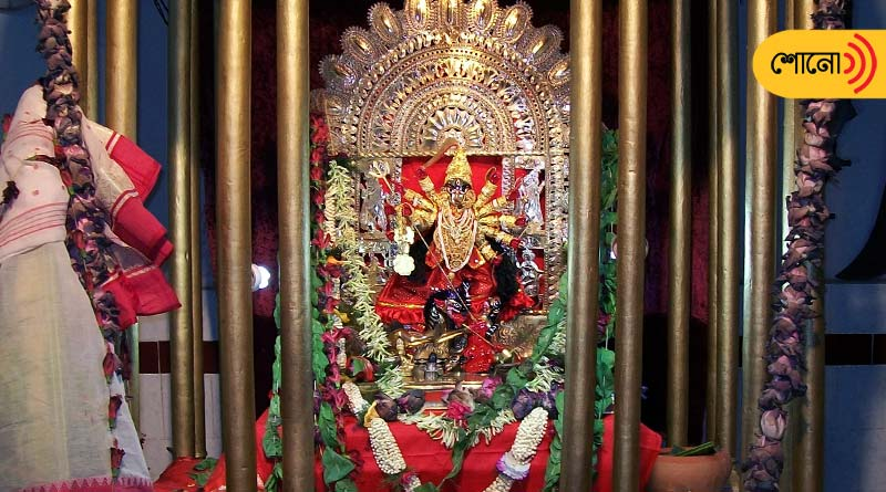 know about the golden idol of Goddess Durga in Kolkata