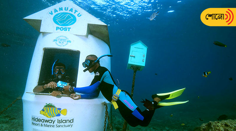 this is the first underwater post office in the world
