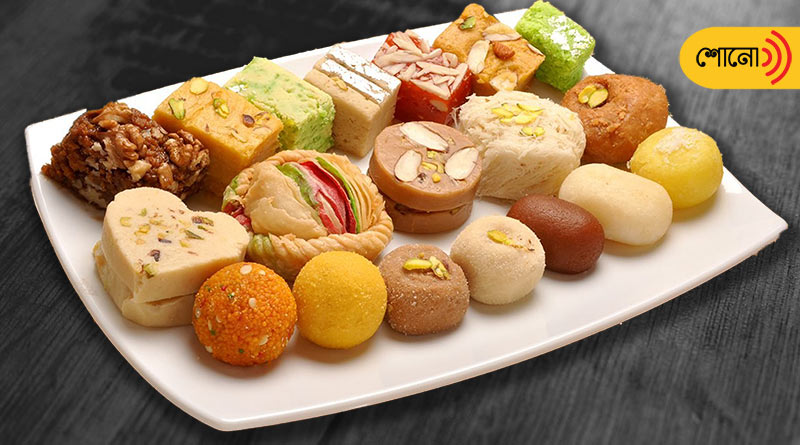 having sweets in Bijaya Dashami of Durga Puja is a ritual in Bengal